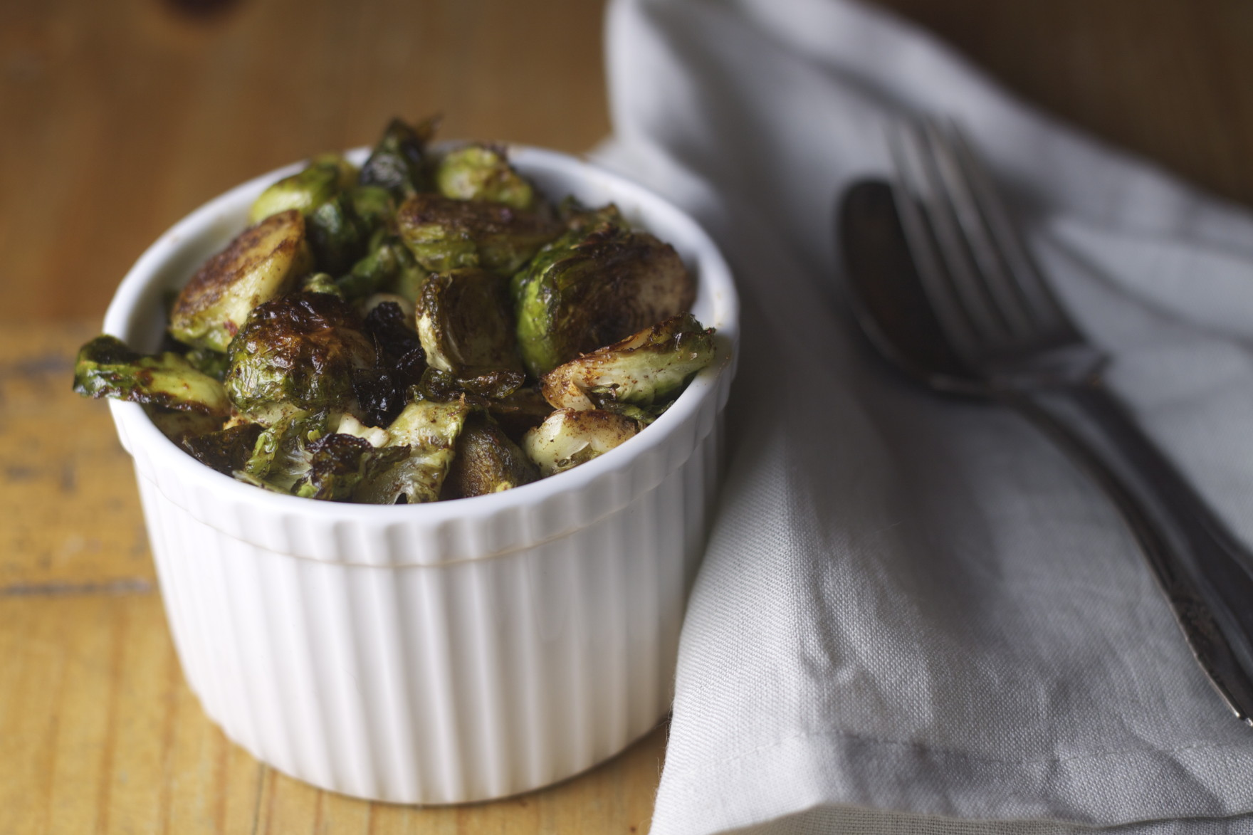 Vegan Crispy Brussels Sprouts with Smoked Paprika