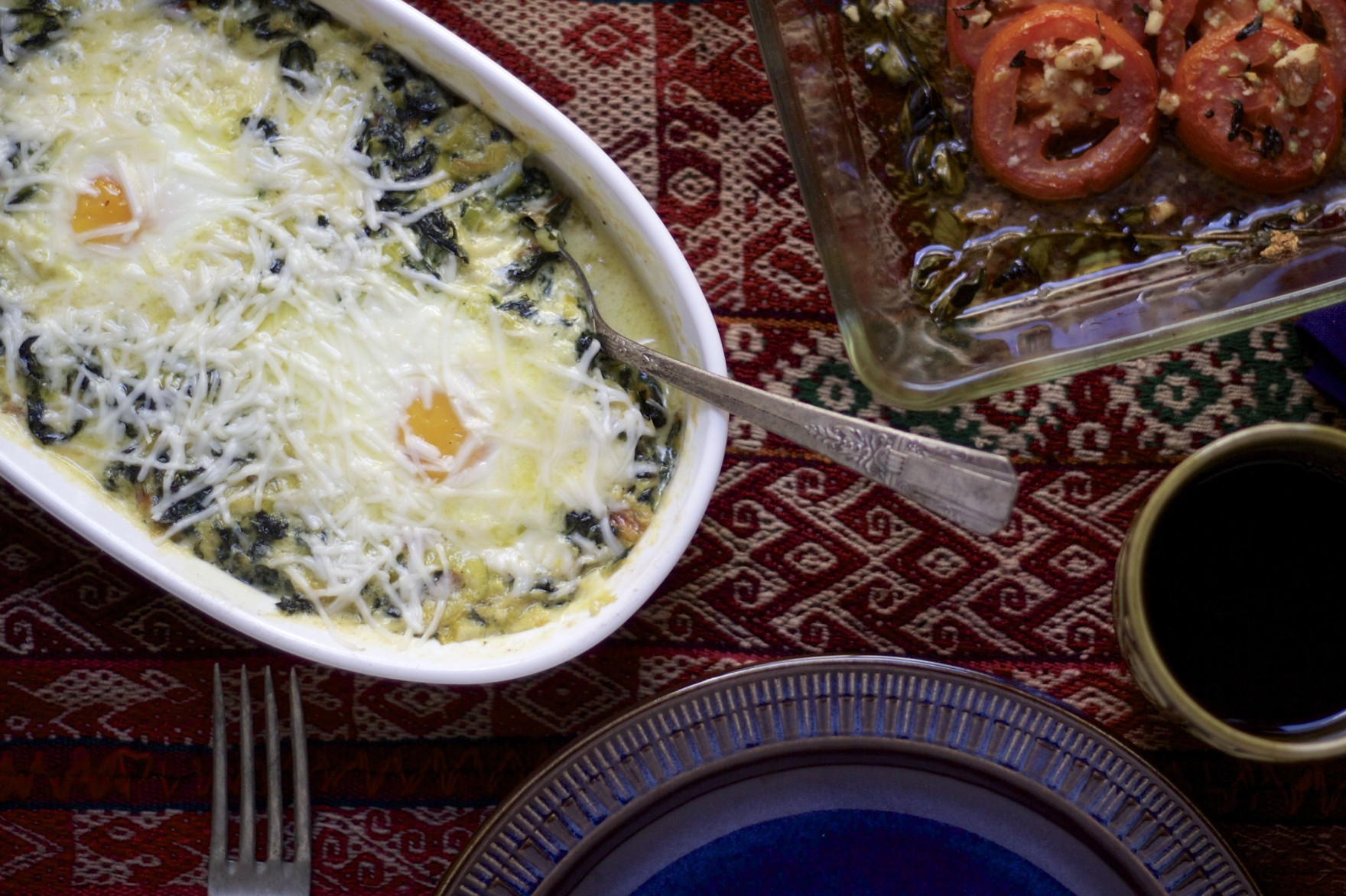 Swiss Chard and Leek Baked Eggs The Bored Vegetarian