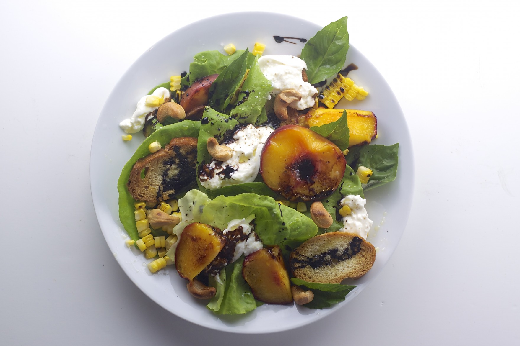 Grilled Peach Salad the Bored Vegetarian